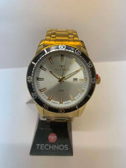 Relógio Technos Masculino Dourado 2115mmy/4k