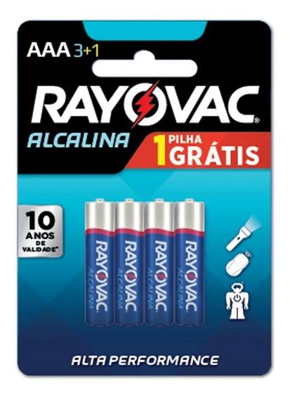 Kit Rayovac Pilha Alcalina Aaa Com 4 Unidades