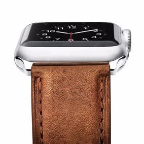 Pulseira Para Apple Watch Couro Genuine Marrom 42mm