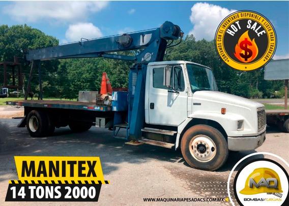 Freghtliner 2000 - Manitex 14 Tons Grua Titan
