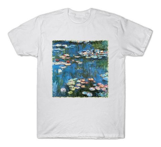 Playera Camiseta Hermosa Imagen Nenúfares Claude Monet