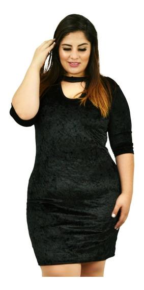 Vestido De Moda Talla Extra # 4046