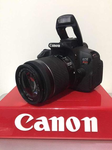 Canon Rebel T5i Kit 18-55 Com Nota Fiscal E Na Caixa