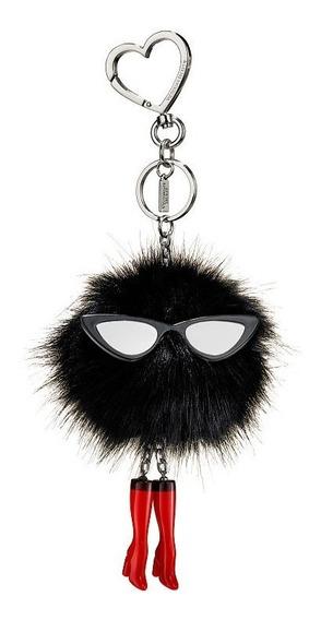 Llavero Victorias Secret Pompon Negro Gafas Mujer Accesorio
