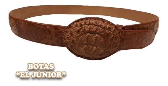 Cinturon Vaquero De Cocodrilo Original Miel