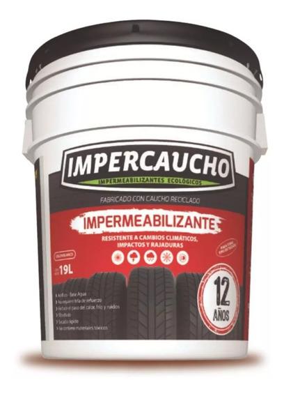 Cubeta Impercaucho Impermeabilizante Techo 12 Años 19 Litros