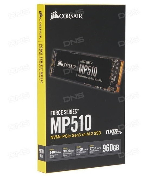 Ssd Corsair Force Series Mp510, 960gb, M.2 Nvme, Top - Novo
