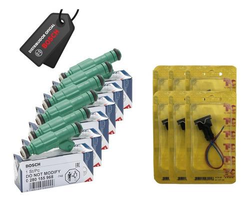 Jogo 6 Bicos Bosch 42 Lbs + Conectores/chicotes
