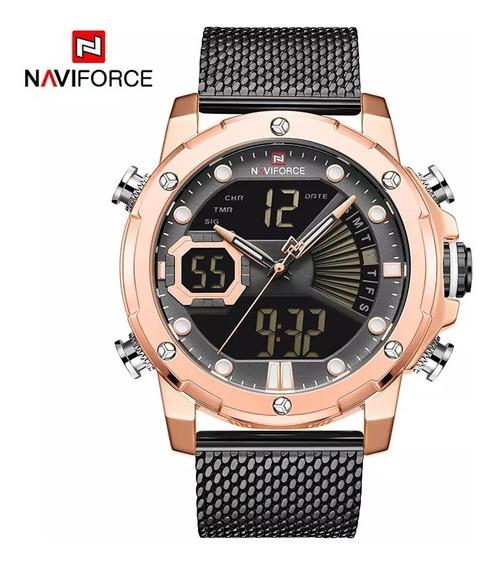 Reloj Militar Digital Análogo Para Caballero Metalico