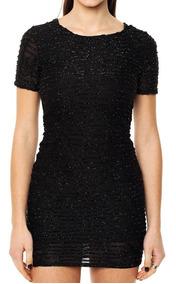 Vestido De Noche Elastizado Negro Mia Loreto Modelo Barbados