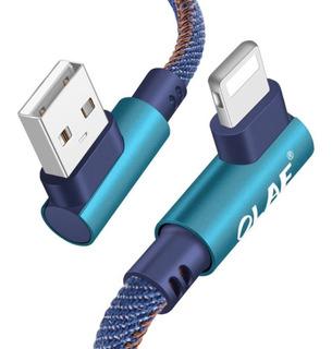 Cabo Curto Lightning iPhone Usb 90 Graus Em L 25cm