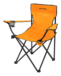 Silla Plegable Para Camping Playa Naranja Kushiro Pintolindo