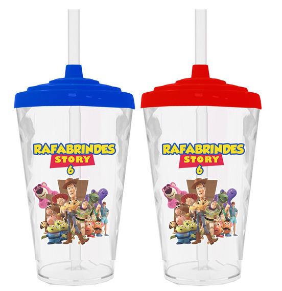 50 Copos Twister 490ml Personalizados Toy Story