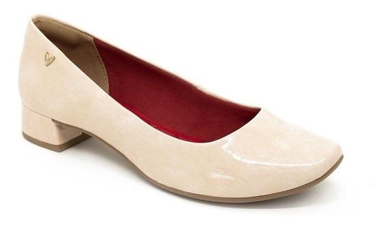 Sapato Scarpin Mississipi Verniz Salto Médio Nude Q0081