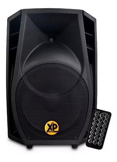 Bafle Potenciado Xp Audio Bluetooth Usb 350w Con Funda