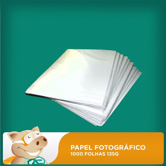 Kit Papel Fotográfico 1000f 135gr A4 Adesivo- Envio Imediato