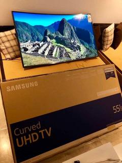 Smart Tv Samsung 55 Pulgadas Ultra Hd 4k Curvo Led Mu6300