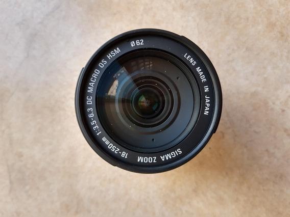 Lente Sigma 18-250mm 1:3.5-6.3