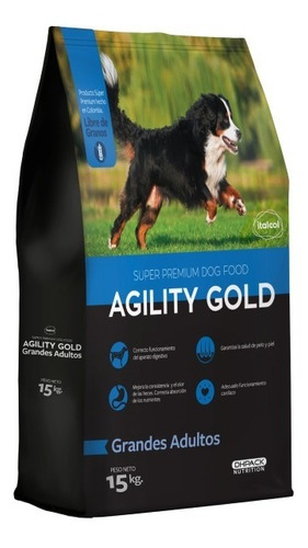 Imagen 1 de 1 de Agility Gold Grandes Adultos 15 Kg