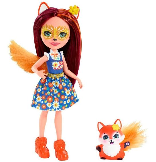 Boneca Fashion E Pet - Enchantimals -felicity Fox E Flick -