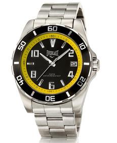 Relógio Everlast Caixa E Pulseira Aço E287