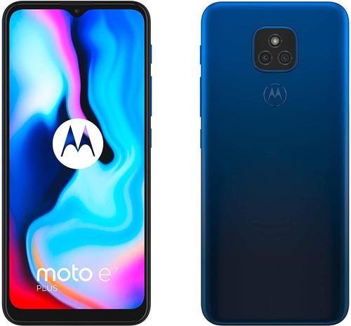 Celular Motorola Moto E7 Plus Azul Mystic 64 Gb 4 Gb Ram