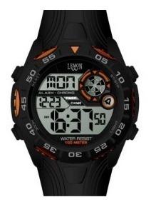 Reloj Digital Lemon Dl171 Sumergible 46mm Ø