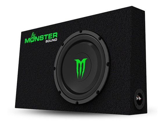Subwoofer Extra Chato 1000w Cajón Slim Monster Sound