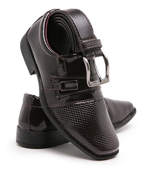 Sapato Social Infantil Masculino Com Cinto Lançamento 448