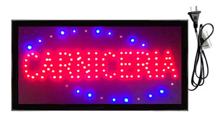 Cartel Luminoso Led Carniceria 48 X 25cm 220v