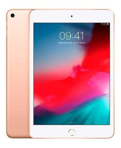 Imagem 1 de 4 de iPad Mini 7.9'' Wifi+4g 256gb (2019) Cor:dourado