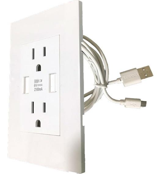 Placa Contacto Doble Y Carga Dual Usb Incluye Cable