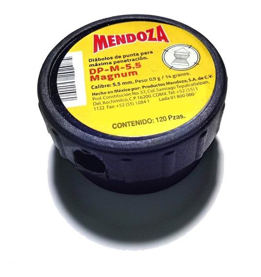 Munición Mendoza Calibrado 5.5 Máxima Penetración Black
