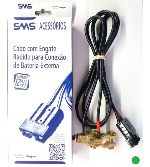 Cabo Sms P/ Engate Bateria Automotiva Externa Até 80a Nobreak Ts-shara Apc 1.5m Original Caixa Lacrada 62404 Nota Fiscal