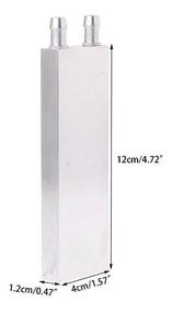 Dissipador De Calor Em Alumínio 120x40x12mm Para Água Prata