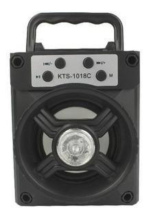 Bocina Bluetooth Recargable Usb Radio Fm Kts-1018