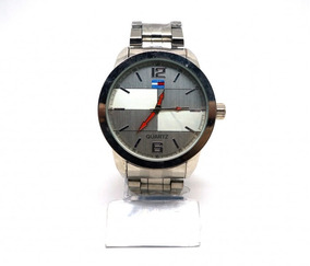 Relógio De Pulso Masculino Tommy Prateado