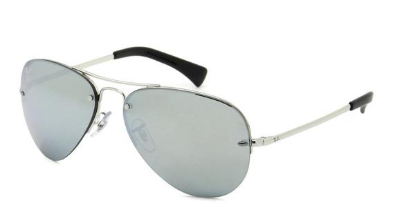 Óculos Ray Ban Rb3449 003/30 59 Aviador - Lente 59mm