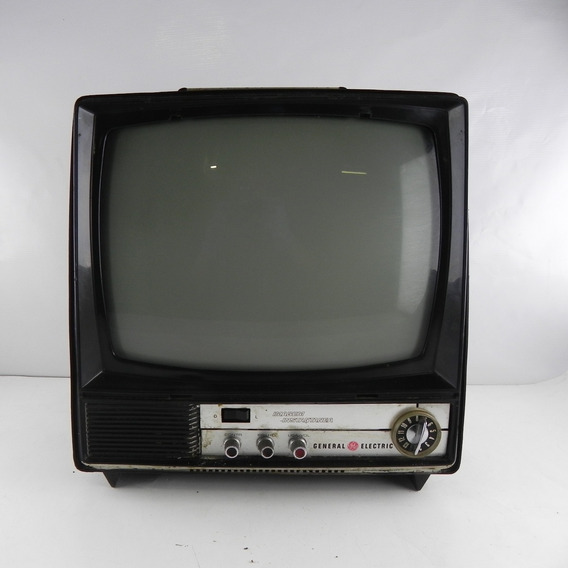 Tv Antiga General Eletric Mensagem Instantânea - C/ Defeito, Para Decoração