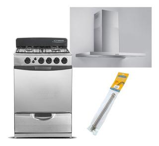 Combo Cocina Ormay A3 Campana Tst Nihuil 60 C/ Flexible Gas