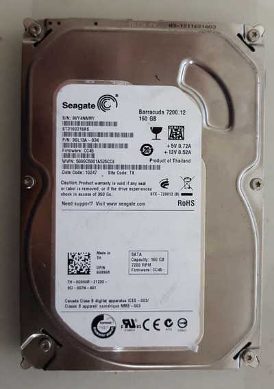 Hd Seagate Barracuda Sata 160gb St3160318as Usado Ref: 0246