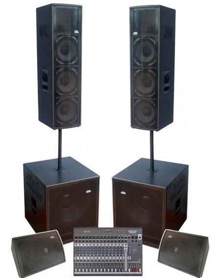 Kit Caixas Ativa Amplificadas Monitores Para Banda 7000w Pro