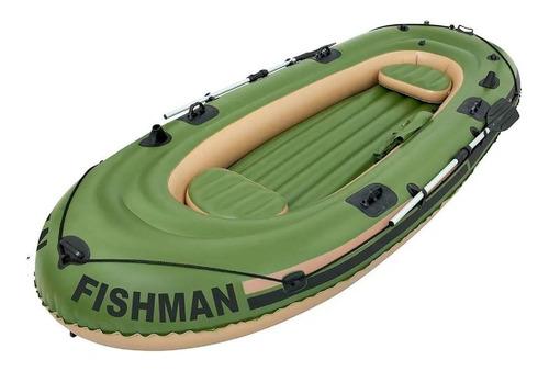 Bote Barco Inflavel Fishman 400 C/ 2 Remos Mor