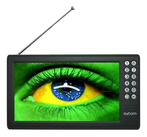 "TV portátil Exbom MTV-70A LCD Full HD 7"" 110V/220V"