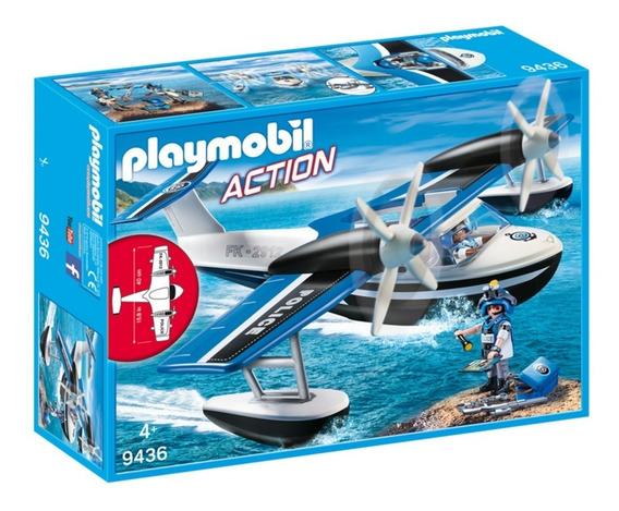 Playmobil 9436 Hidroavião Policial Ação Sunny