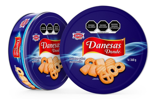 Imagen 1 de 3 de Danesas 360g.- Galletas Dondé