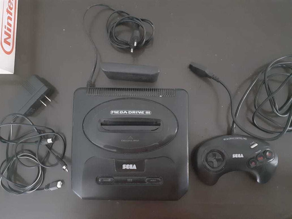 Mega Drive 3 Original Com 15 Jogos