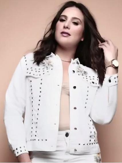 Jaqueta Branca Plus Size