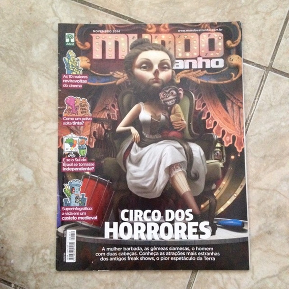 Revista Mundo Estranho Nov2014 Ed159 Circo De Horrores