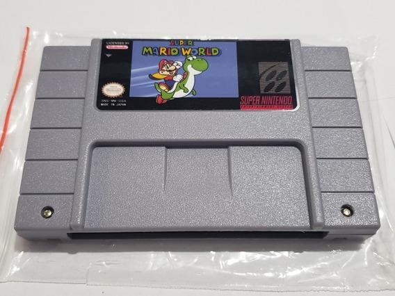 Super Mario World Super Nintendo Com Bateria De Salvar